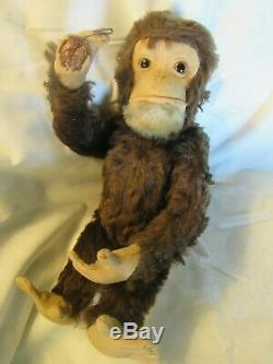 Antique Mohair Monkey Yes No Chimp Teddy Bear Rare Steiff Schuco Vintage Germany