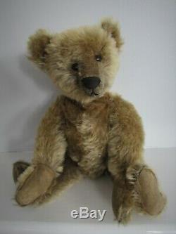 Antique Mohair Steiff Teddy Bear Ff Button