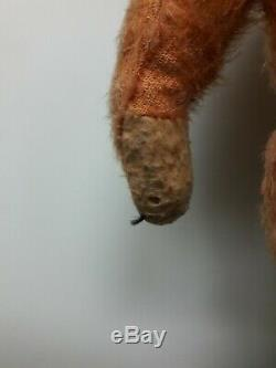 Antique Mohair Teddy Bear, Apricot Color, Maker Unknown