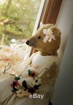 Antique Mohair Teddy Bear Mouse Dressed & Tended To By Toy Bear Rescue Society