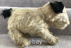 Antique Mohair Terrier Dog Soft Toy Teddy Bear Friend Poss Farnell C. 1940s