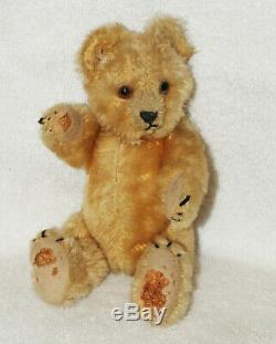 Antique Old Mohair Steiff Teddy Bear C. 1920 Rare 8 Inches