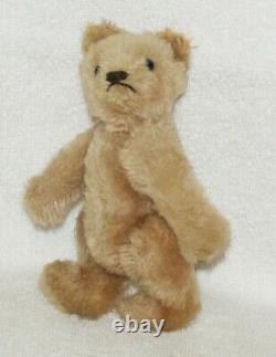 Antique Old Mohair Steiff Teddy Bear C. 1940 Rare 6 Inches