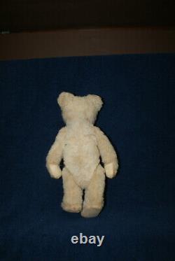 Antique Old Mohair Steiff White Teddy Bear C. 1920 Rare 10 Inches