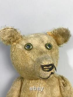 Antique Old Mohair Straw Stuffed Unbranded PRE-WAR 1900s TEDDY BEAR