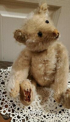 Antique Old Steiff Prewar Teddy Bear 9 White Mohair