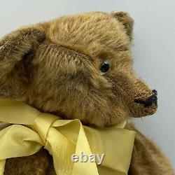 Antique Original Owner's 1906 Teddy Bear Straw Stuffed Jointed Mohair 15