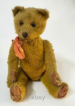 Antique SCHUCO 1920's Yes No TEDDY BEAR 17 Mohair & Excelsior Good Original