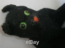 Antique Small Black Toy Mohair Huge Early Teddy Bear Hump Steiff Toy