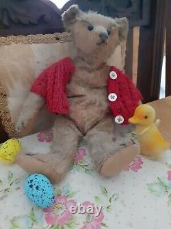 Antique Steiff 10 Early 1900 Metal Button mohair Jointed Old Teddy bear Bogart