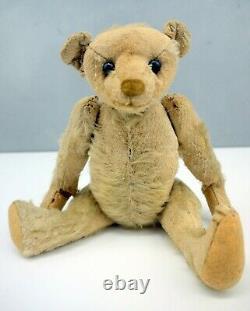 Antique Steiff ERA MoHair OLD Stuffed TEDDY Bear Jointed 9.5 Primitive WORN