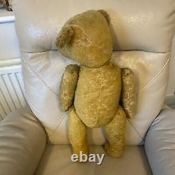 Antique Teddy Bear 1910s 1920s Working Growler Hump Mohair Glass Eyes 22 Inches
