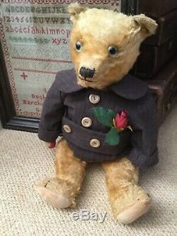 Antique Toy Mohair Teddy Bear-chiltern Circa 1920-30