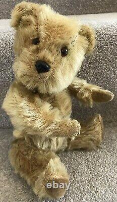 Antique Vintage Chiltern Blonde Mohair Jointed Teddy Bear British 1950s