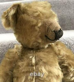Antique Vintage Chiltern Mohair Jointed Teddy Bear 16 C. 1930/40s