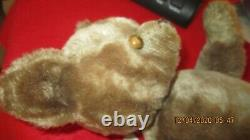Antique/ Vintage Jointed Hump Back Mohair Teddy Bear 16 1930s/ 40s