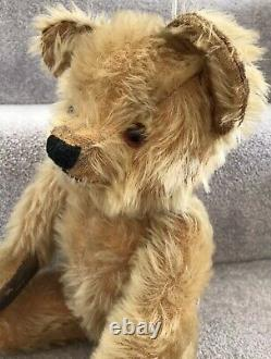 Antique Vintage Merrythought Or Similar Golden Mohair Jointed Teddy Bear