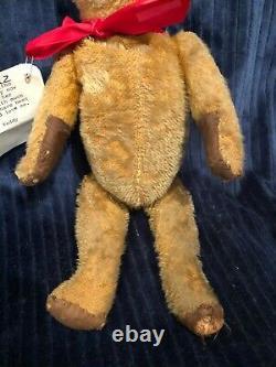 Antique Vintage Mohair Ideal Teddy Bear Cinnamon 1920's