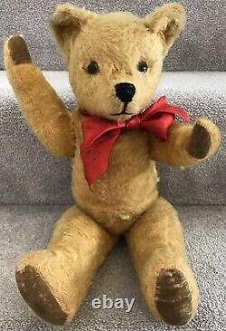 Antique Vintage Pedigree Bobby Bruin Style Jointed Mohair Teddy Bear 40/50s