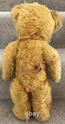Antique Vintage Tufty Golden Mohair Musical Teddy Bear British C. 1940/50s 18