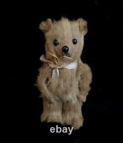 Antique miniature teddy bear, Schuco, mohair
