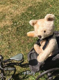 Antique steiff Working Growler jointed Champagne mohair collectors teddy bear