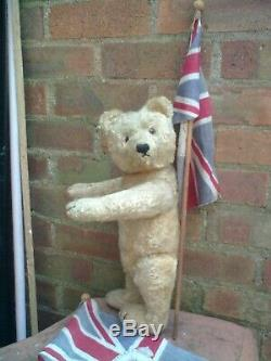 Antique steiff jointed TRADITIONAL mohair teddy bear