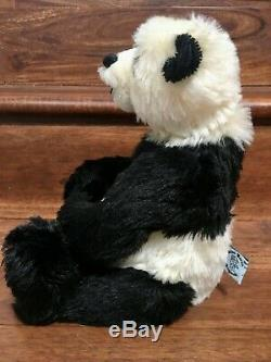 Artist PANDA Teddy Bears CLAUDIA WAGNER Mohair Open-Mouth Trapunto 14 LE/OOAK