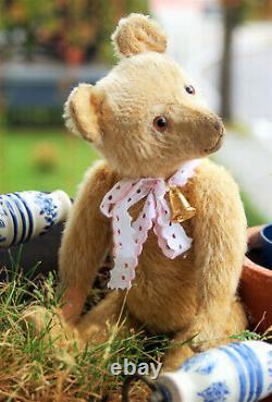 Beautiful antique 14 EDUCA Eduard Cramer blond mohair humpback teddy 1928