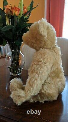 Big Antique Replica Jointed Mohair Steiff Teddy Bear Altgold 52cm New LE162/4000