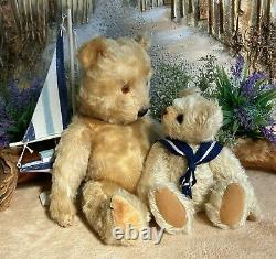 CHILTERN HUGMEE TEDDY BEAR MOHAIR JOINTED 1950s HUG ME GRANDPA HUGO 15