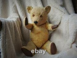 CHILTERN HYGENIC TOYS 1950 LARGE GOLDEN MOHAIR 21 53cm HUGMEE TEDDY BEAR TEG