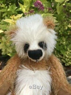 CLOVER Artist Teddy Bears Panda Mohair JANET CHANGFOOT Airbrushed Vintage OOAK 8