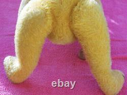 Charming 24 German Petz humpback goldblond mohair teddy bear 1930's