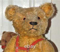 Charming 26 German goldblond PETZ Kiesewetter Mohair Teddy Bear 1930's