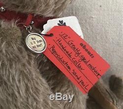 Charming OOAK Handmade Mohair Teddy Bear By Pat Murphy Weldon