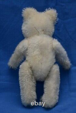 Cutest 1950s Small 7 White Mohair Antique/Vintage Teddy Bear Probably By Petz