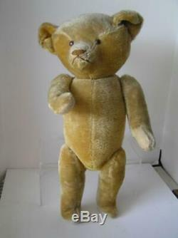 Early 1900's American Ideal Gold Mohair Teddy Bear LARGE 22.5 Tall & jointed