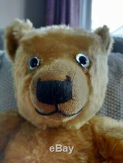 Early Chiltern Hugmee Teddy Bear Mohair 1930s 26 Inch stunning condition