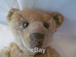 Early Steiff Teddy Bear, Twelve Inches, Beige Mohair, Early 20th Century