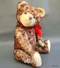 Educa Eduard Cramer Teddy Bear 1950s Mohair Plush 60cm 2ft Growler Glass Eyes