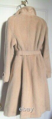 Exceptional Teddy Bear Coat 14 16 Camel 100% Mohair tie belt makes fit and flare