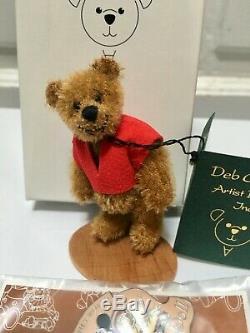 Exclusive Winnie the Pooh Canham Artist Miniature Mohair Teddy Bears Disney Pin