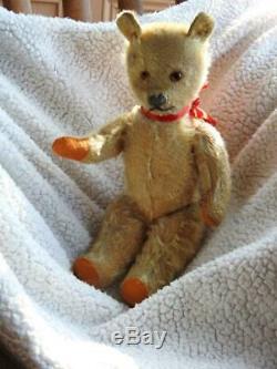FARNELL ALPHA VINTAGE 1930s 13 GOLDEN MOHAIR TEDDY BEAR FULLY JOINTED'RUSTY