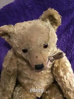 FARNELL EARLY MOHAIR TEDDY BEAR Circa 1910-1920 27 Tall