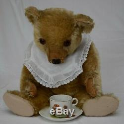 Fine 18 1930s Antique/Vintage Gold Mohair Chiltern Hugmee Teddy Bear Needs TLC