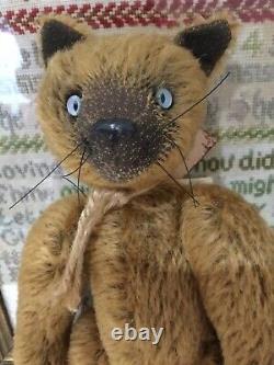 Gertie Wiggins Artist Designed Mohair Teddy Bear/Cat One Of 1 MINT