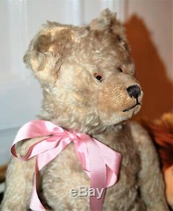 Gorgeous 17 German Diem grey mohair teddy bear 1930's