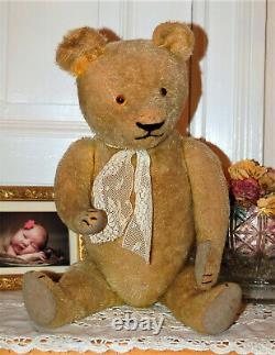 Gorgeous 24 German humpback goldblond mohair teddy bear 1930's