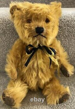 Gorgeous Antique Vintage Chiltern Hugmee Mohair Jointed Teddy Bear British